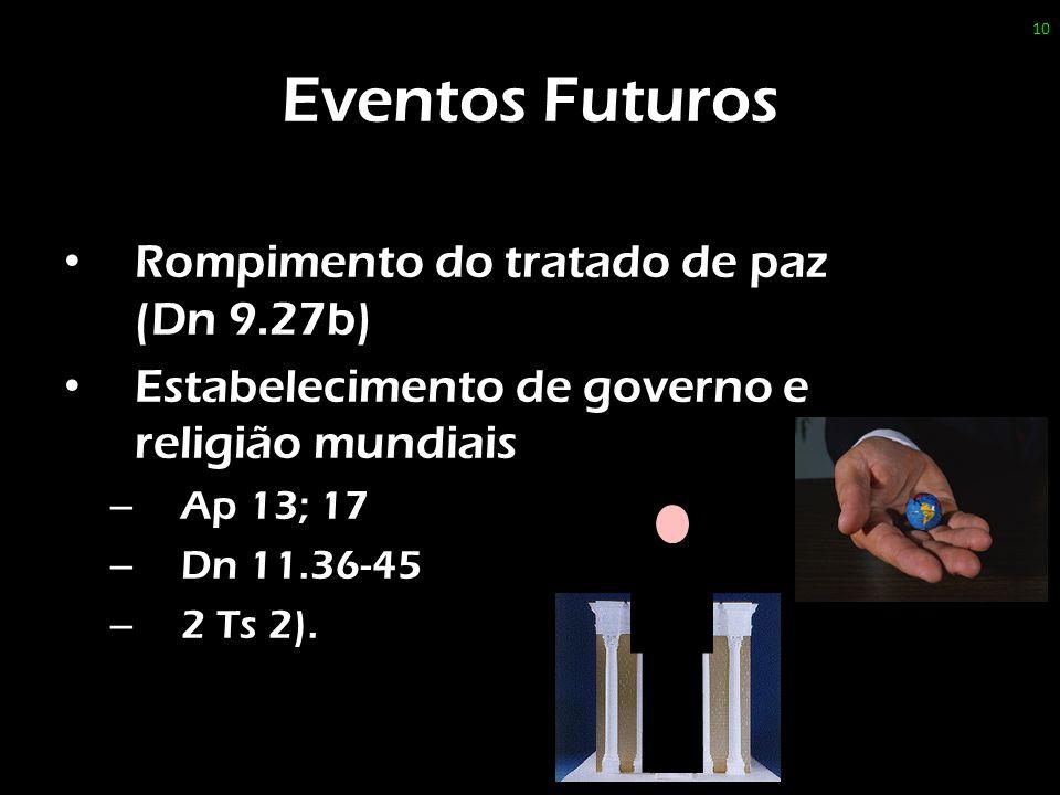 Eventos Futuros Rompimento do tratado de paz (Dn 9.27b)