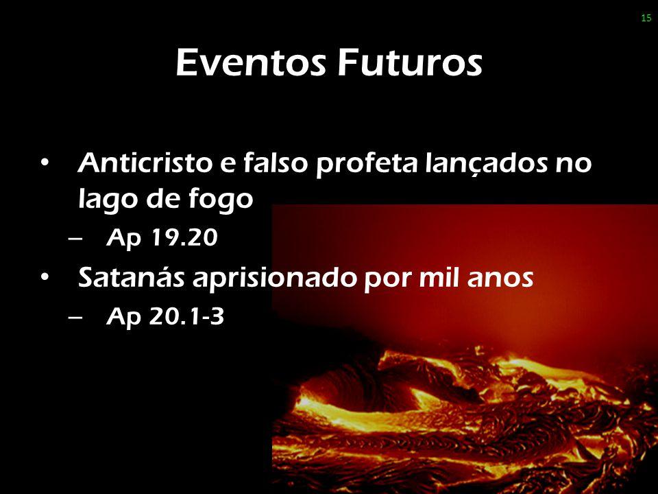Eventos Futuros Anticristo e falso profeta lançados no lago de fogo