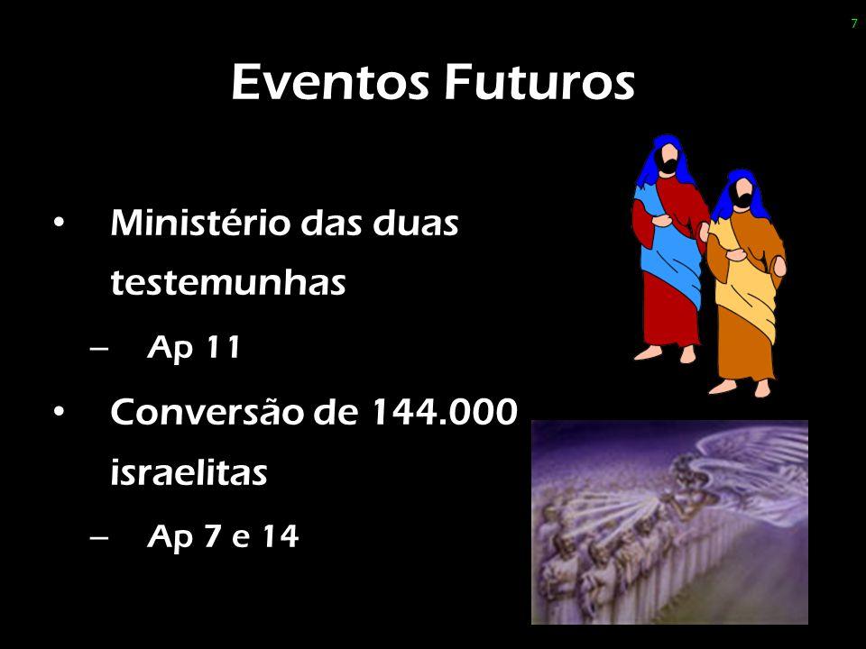 Eventos Futuros Ministério das duas testemunhas