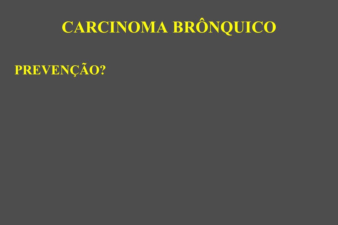 CARCINOMA BRÔNQUICO PREVENÇÃO
