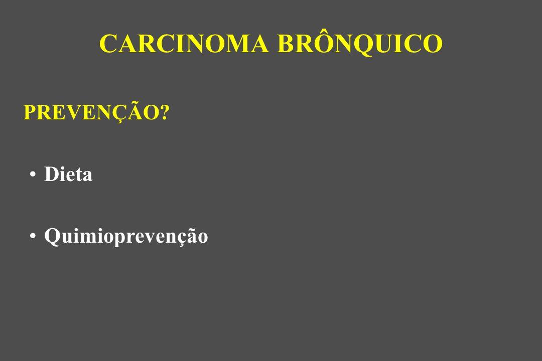 CARCINOMA BRÔNQUICO PREVENÇÃO Dieta Quimioprevenção