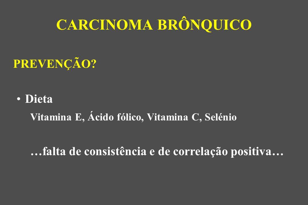 CARCINOMA BRÔNQUICO PREVENÇÃO Dieta