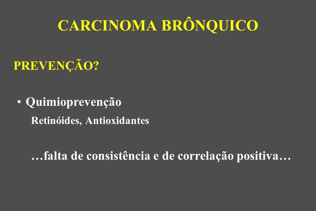 CARCINOMA BRÔNQUICO PREVENÇÃO Quimioprevenção