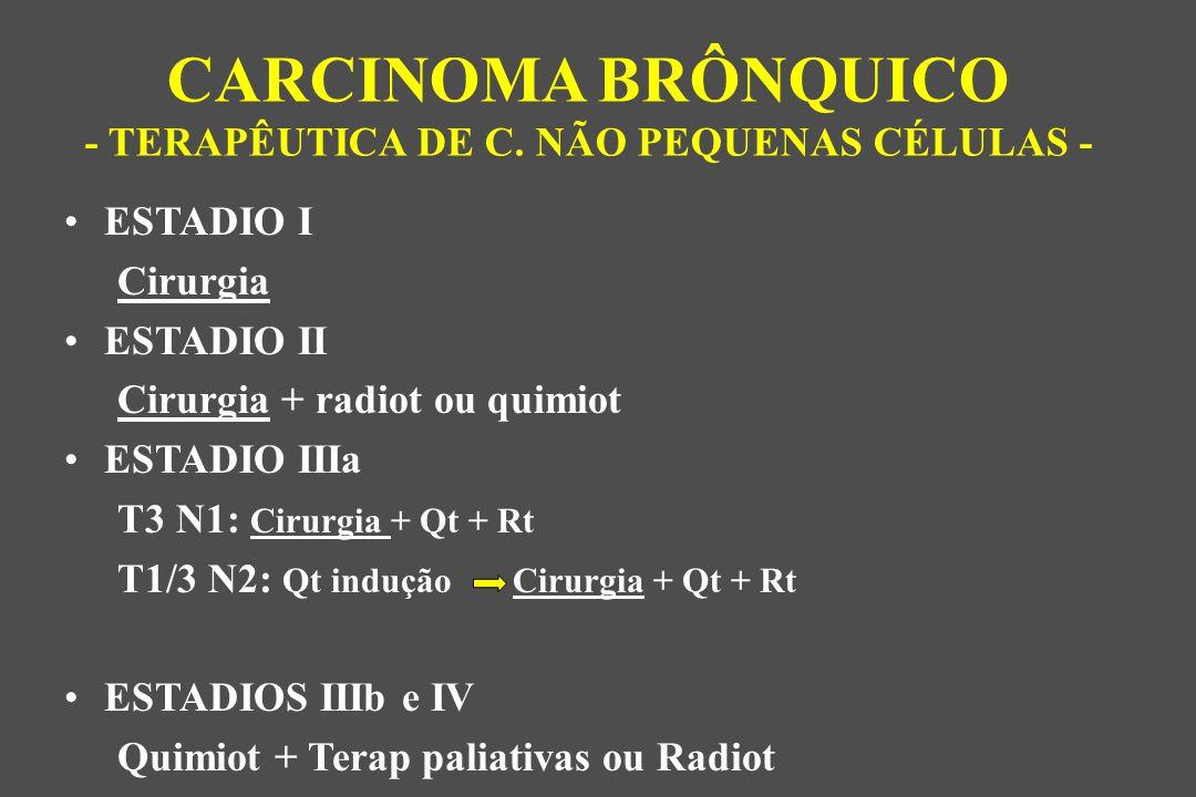 CARCINOMA BRÔNQUICO - TERAPÊUTICA DE C. NÃO PEQUENAS CÉLULAS -