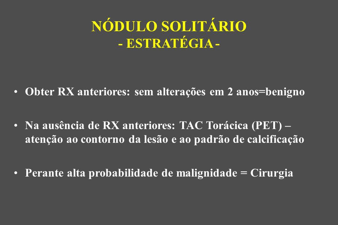 NÓDULO SOLITÁRIO - ESTRATÉGIA -