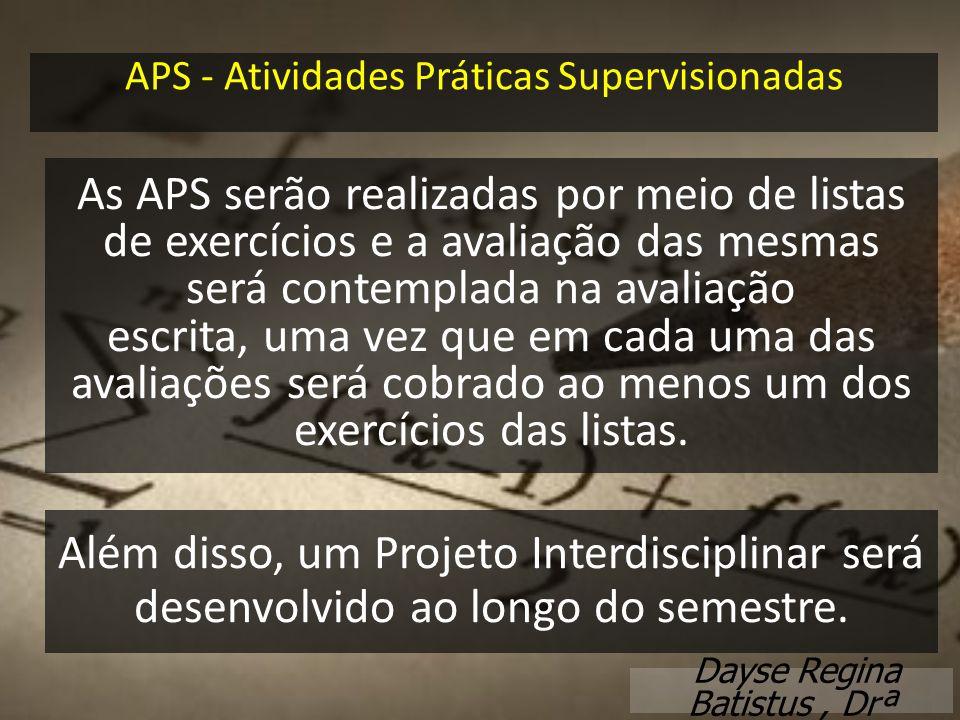 APS - Atividades Práticas Supervisionadas