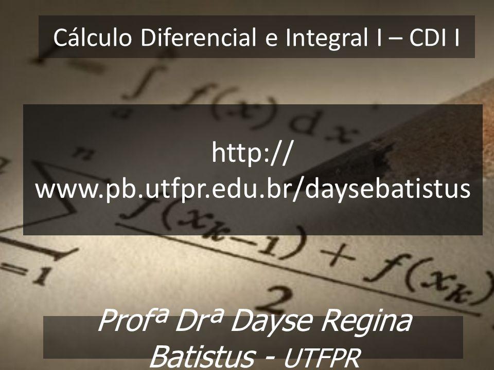 Cálculo Diferencial e Integral I – CDI I