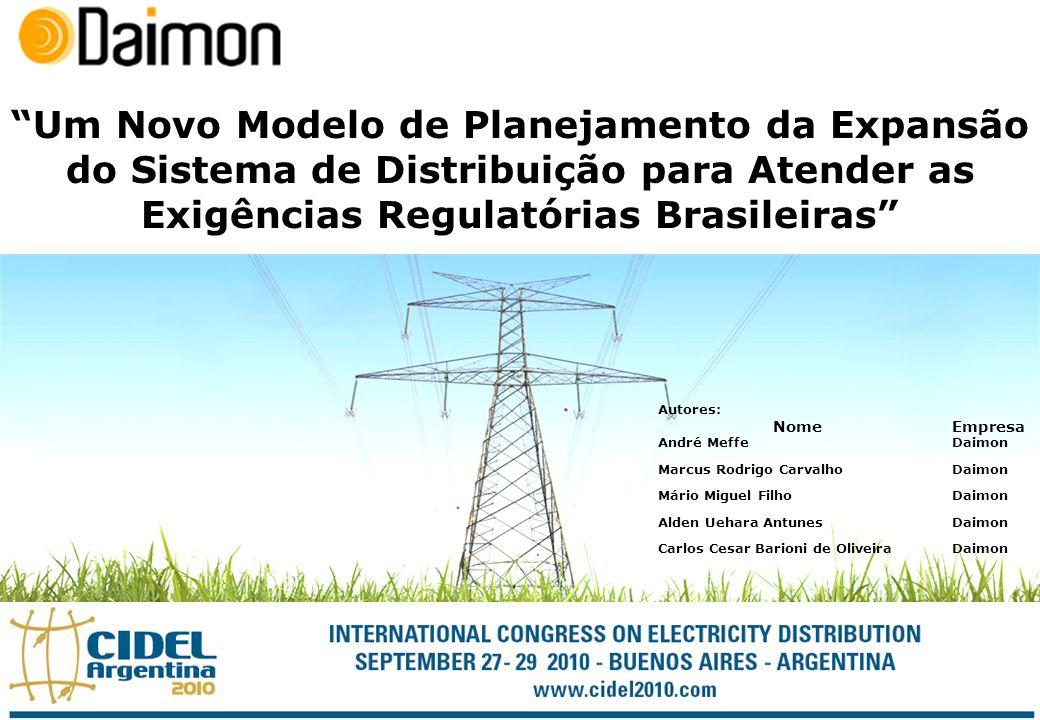 Um Novo Modelo de Planejamento da Expansão do Sistema de Distribuição para Atender as Exigências Regulatórias Brasileiras