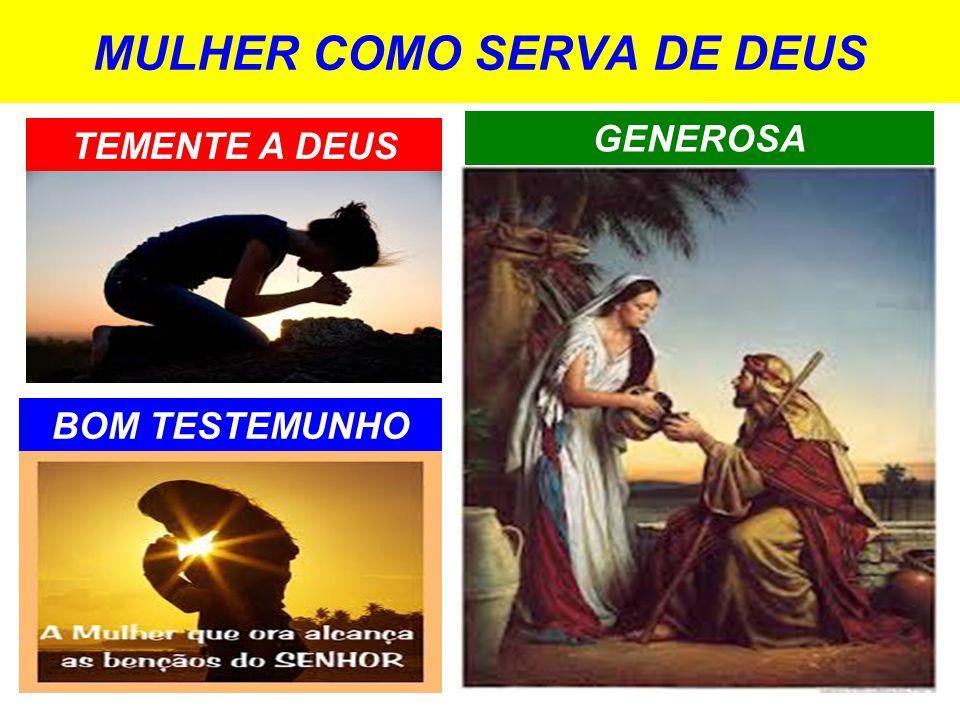 MULHER COMO SERVA DE DEUS