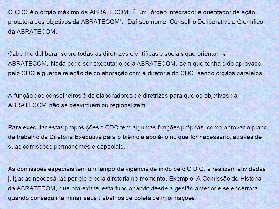 O CDC é o órgão máximo da ABRATECOM