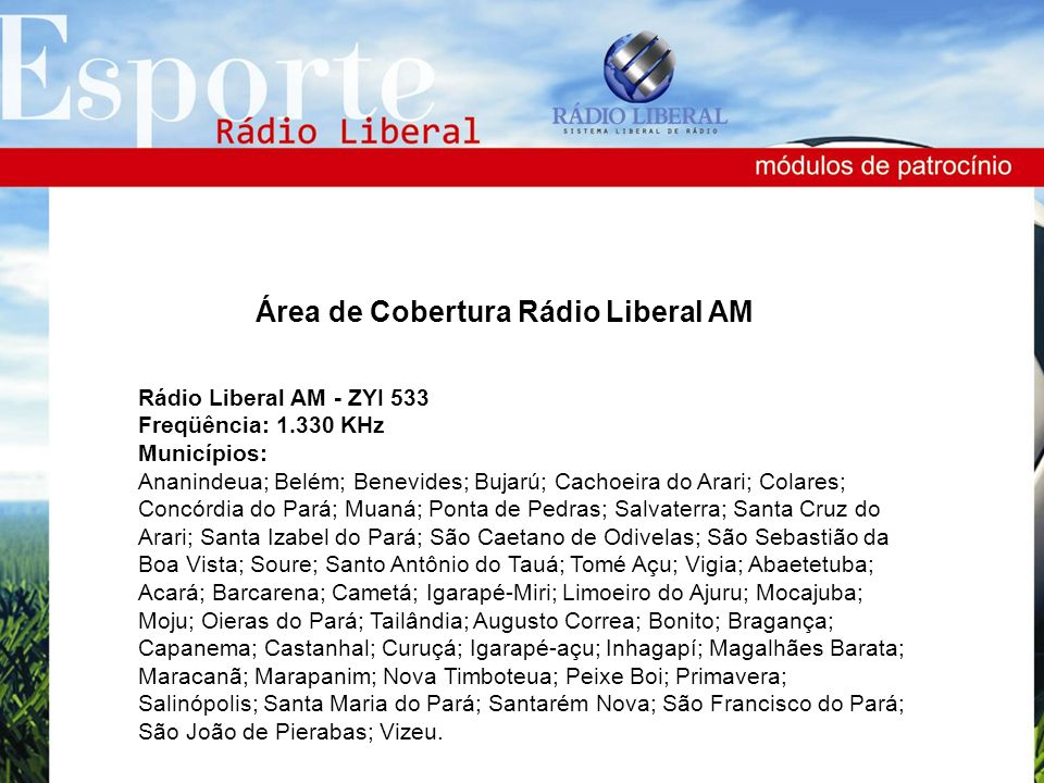 Área de Cobertura Rádio Liberal AM