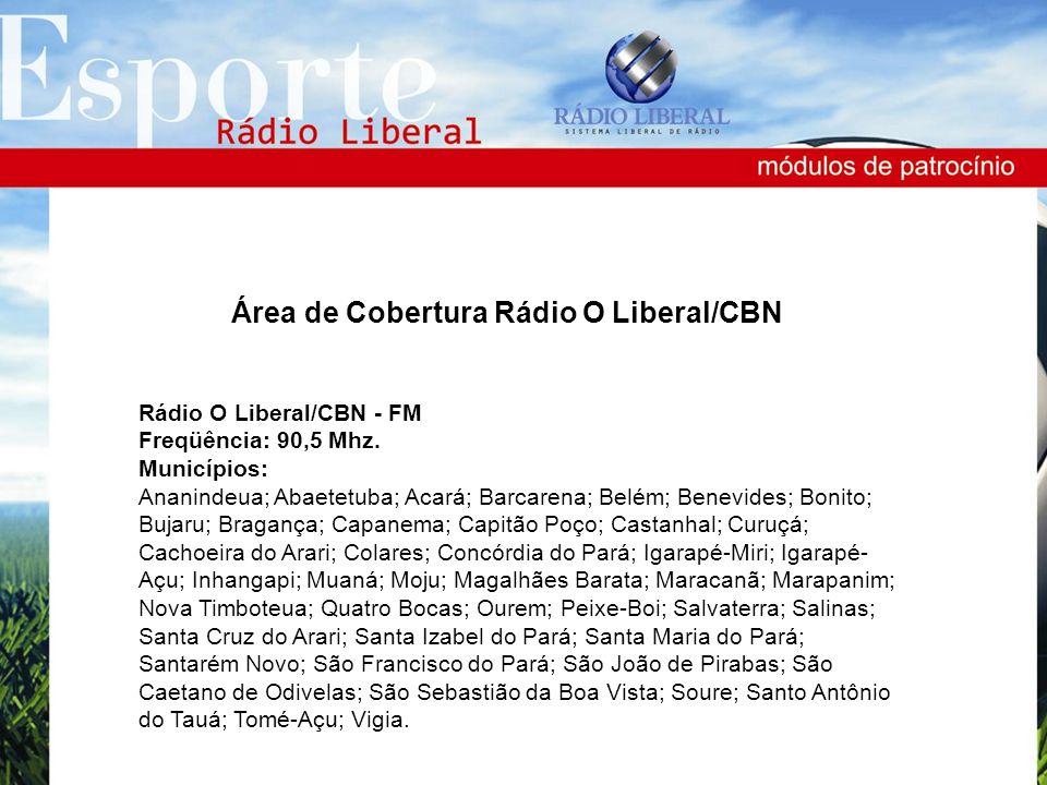 Área de Cobertura Rádio O Liberal/CBN