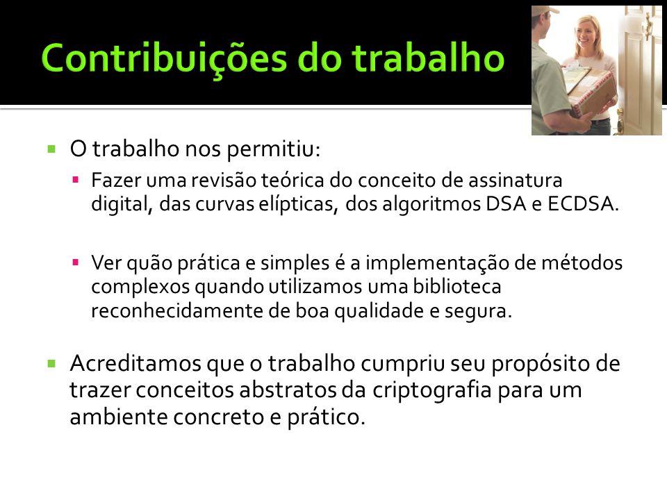 Contribuições do trabalho
