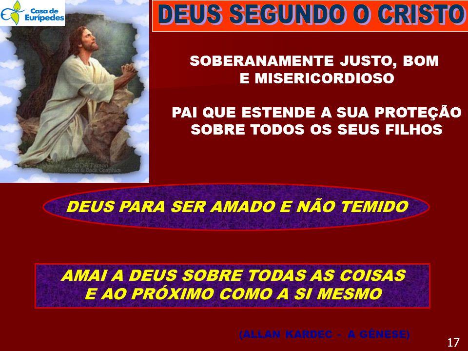 DEUS SEGUNDO O CRISTO DEUS PARA SER AMADO E NÃO TEMIDO
