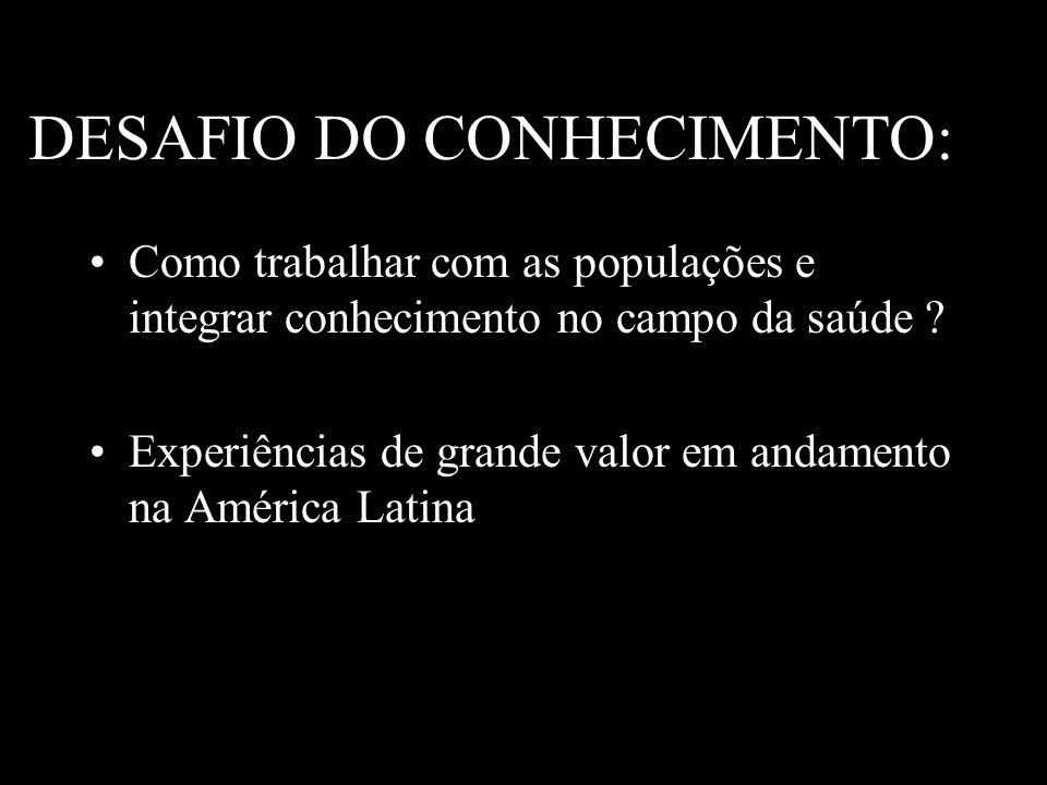 DESAFIO DO CONHECIMENTO: