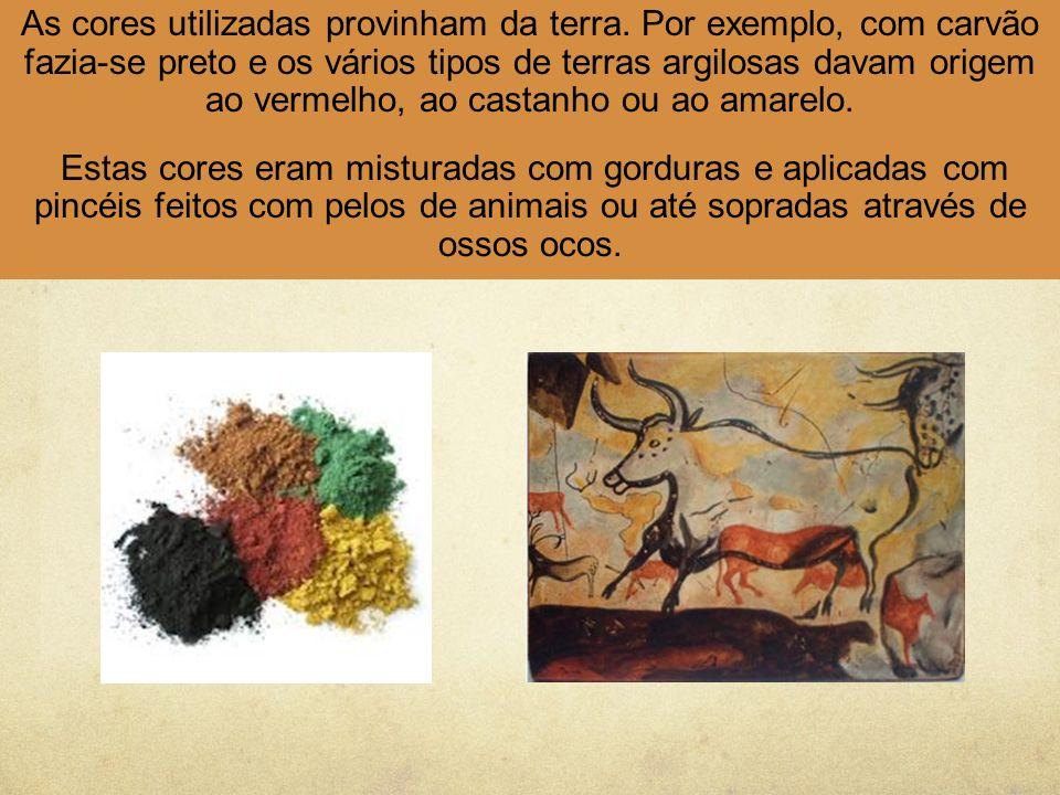 As cores utilizadas provinham da terra