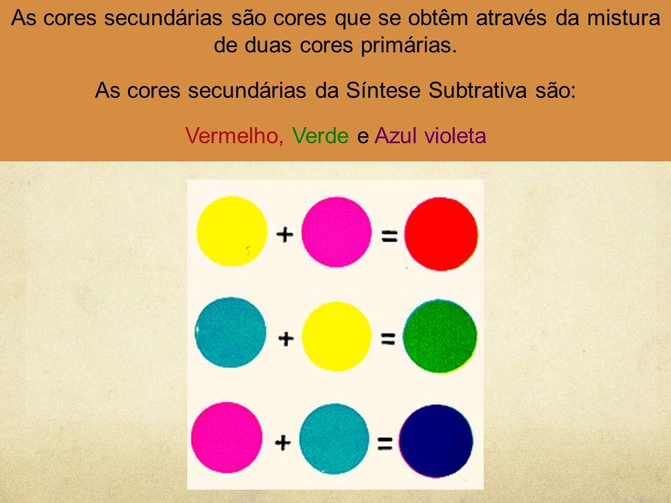 As cores secundárias da Síntese Subtrativa são: