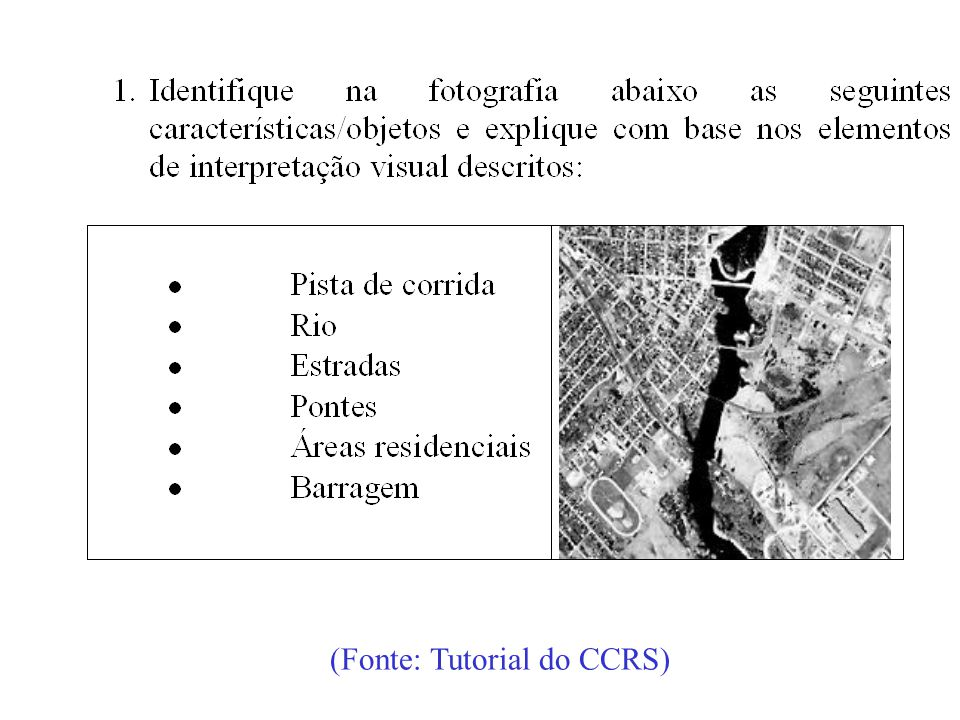 (Fonte: Tutorial do CCRS)