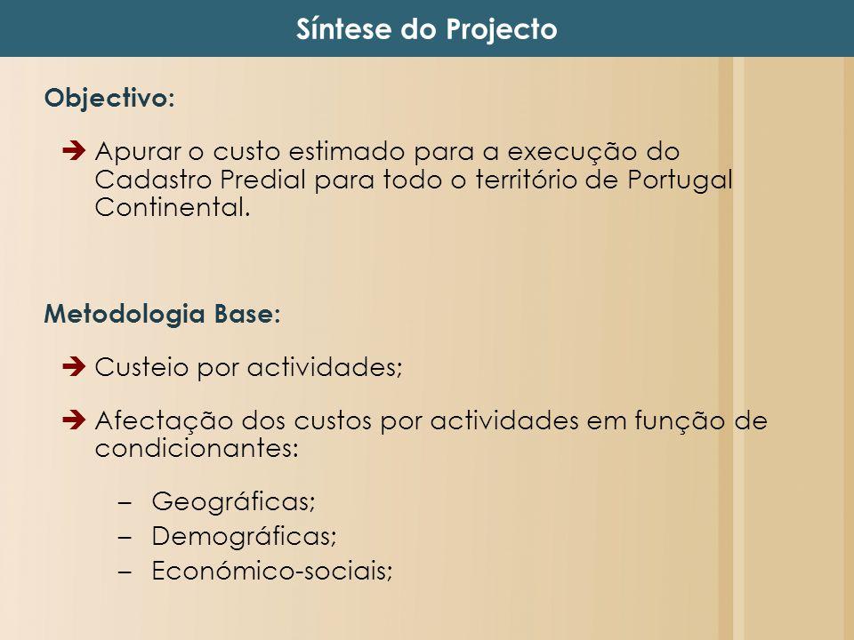 Síntese do Projecto Objectivo: