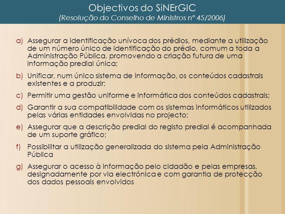Objectivos do SiNErGIC