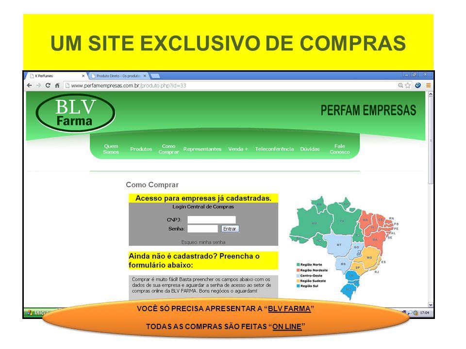 UM SITE EXCLUSIVO DE COMPRAS