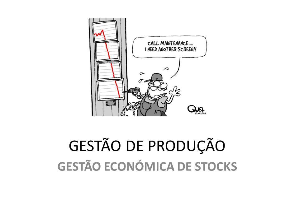 GESTÃO ECONÓMICA DE STOCKS