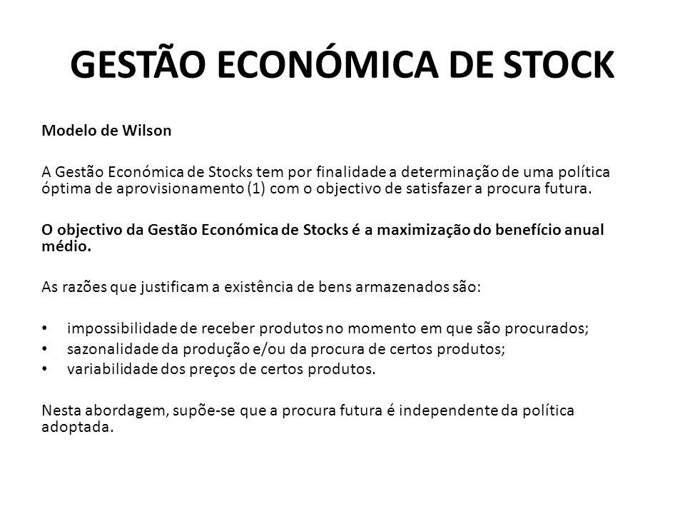 GESTÃO ECONÓMICA DE STOCK