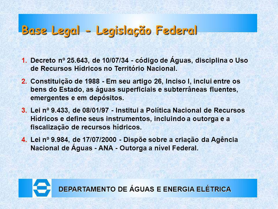Base Legal - Legislação Federal