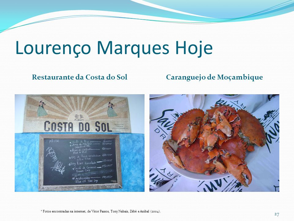 Restaurante da Costa do Sol Caranguejo de Moçambique