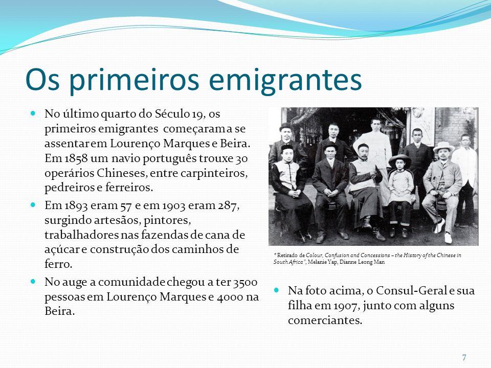 Os primeiros emigrantes