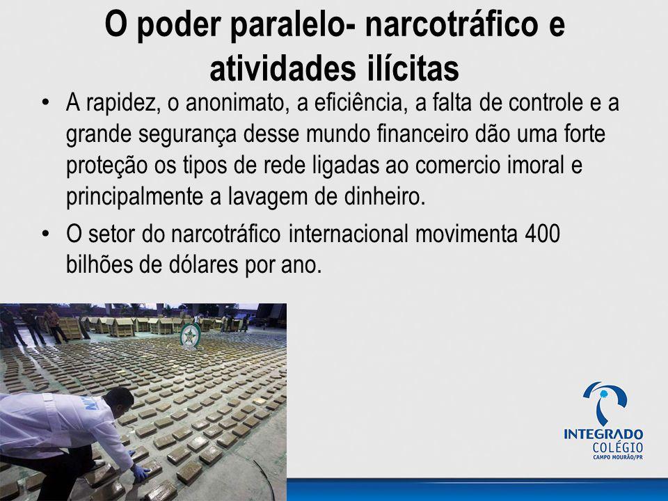 O poder paralelo- narcotráfico e atividades ilícitas