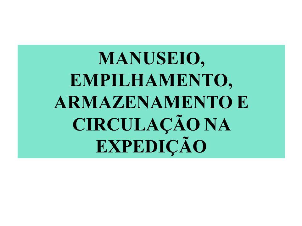 MANUSEIO, EMPILHAMENTO, ARMAZENAMENTO E CIRCULAÇÃO NA EXPEDIÇÃO