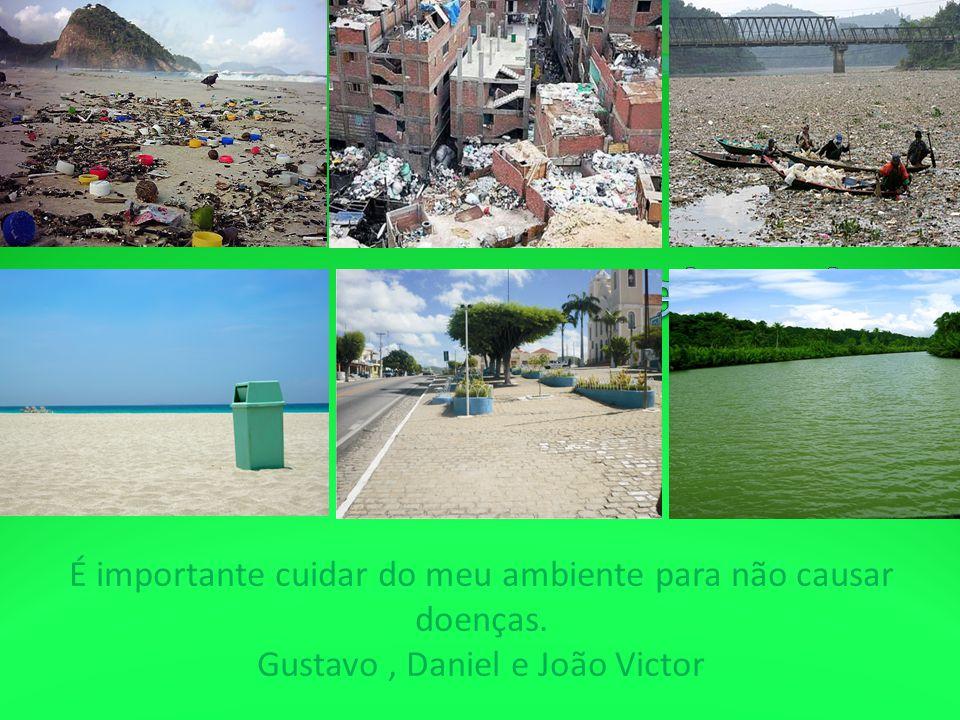 Praia suja É importante cuidar do meu ambiente para não causar doenças.