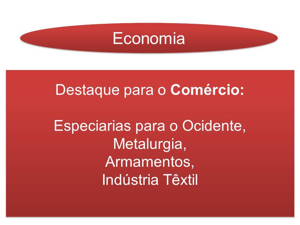 Economia Destaque para o Comércio: Especiarias para o Ocidente,