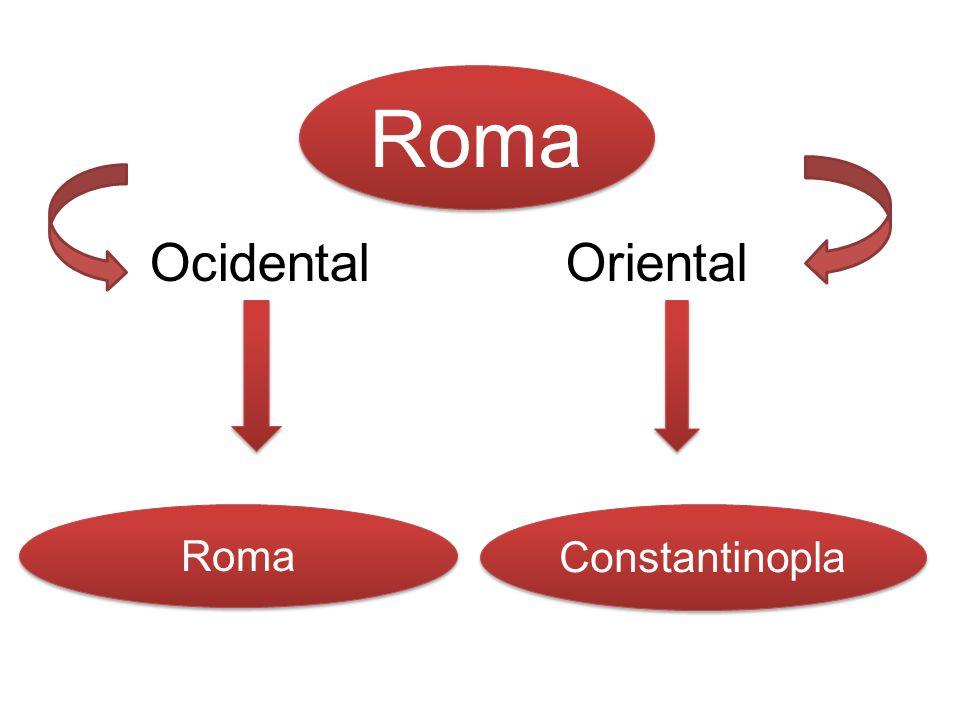 Roma Ocidental Oriental Roma Constantinopla