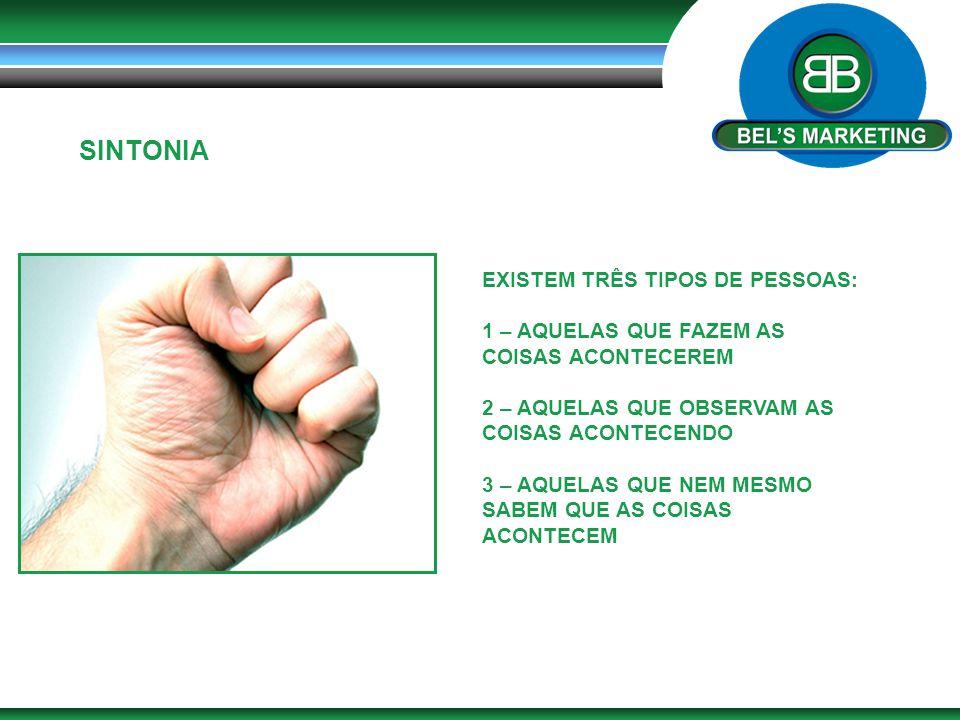 SINTONIA EXISTEM TRÊS TIPOS DE PESSOAS:
