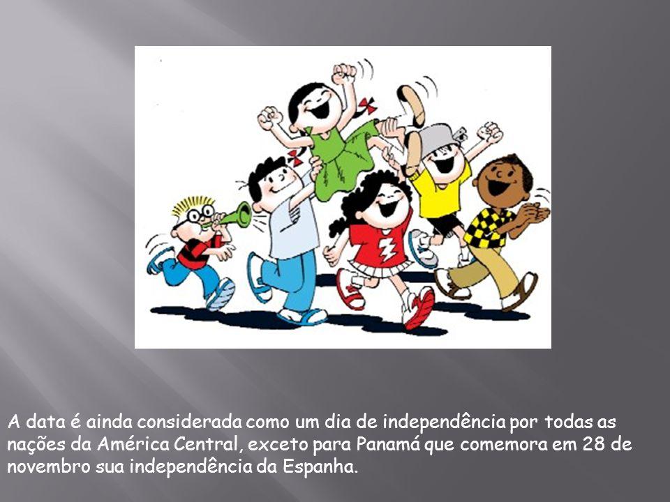 A data é ainda considerada como um dia de independência por todas as nações da América Central, exceto para Panamá que comemora em 28 de novembro sua independência da Espanha.