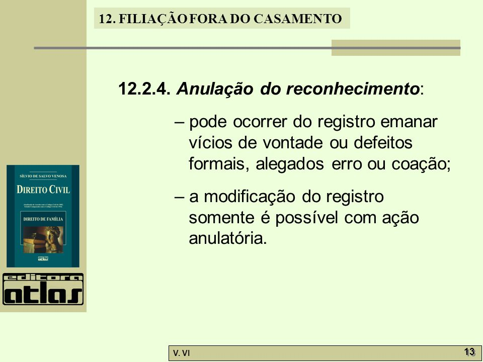 12.2.4. Anulação do reconhecimento:
