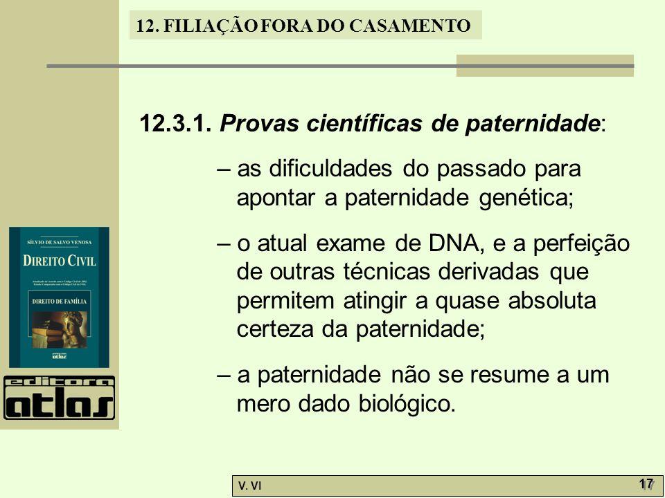 12.3.1. Provas científicas de paternidade: