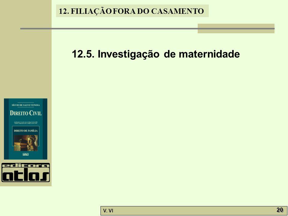 12.5. Investigação de maternidade