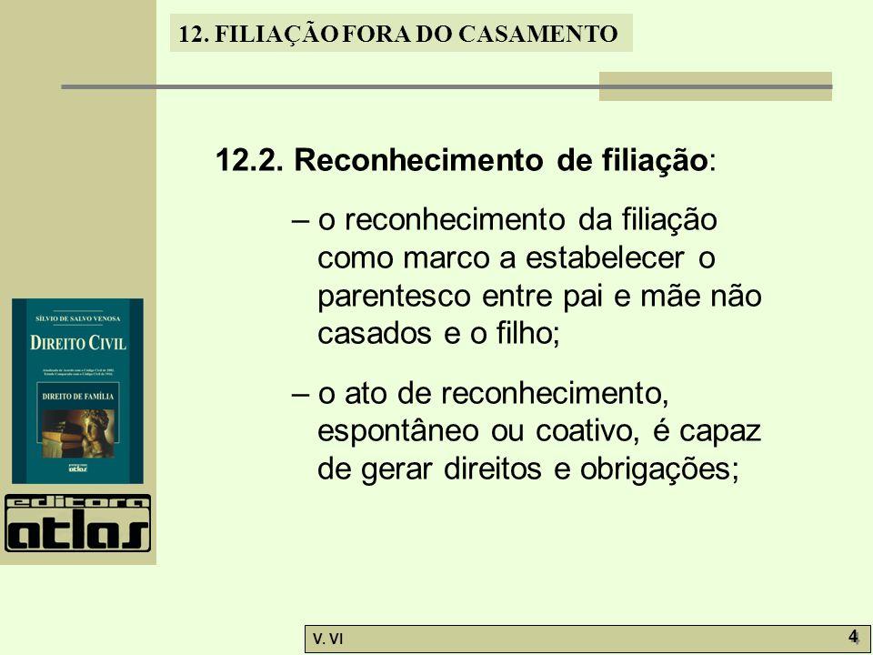 12.2. Reconhecimento de filiação: