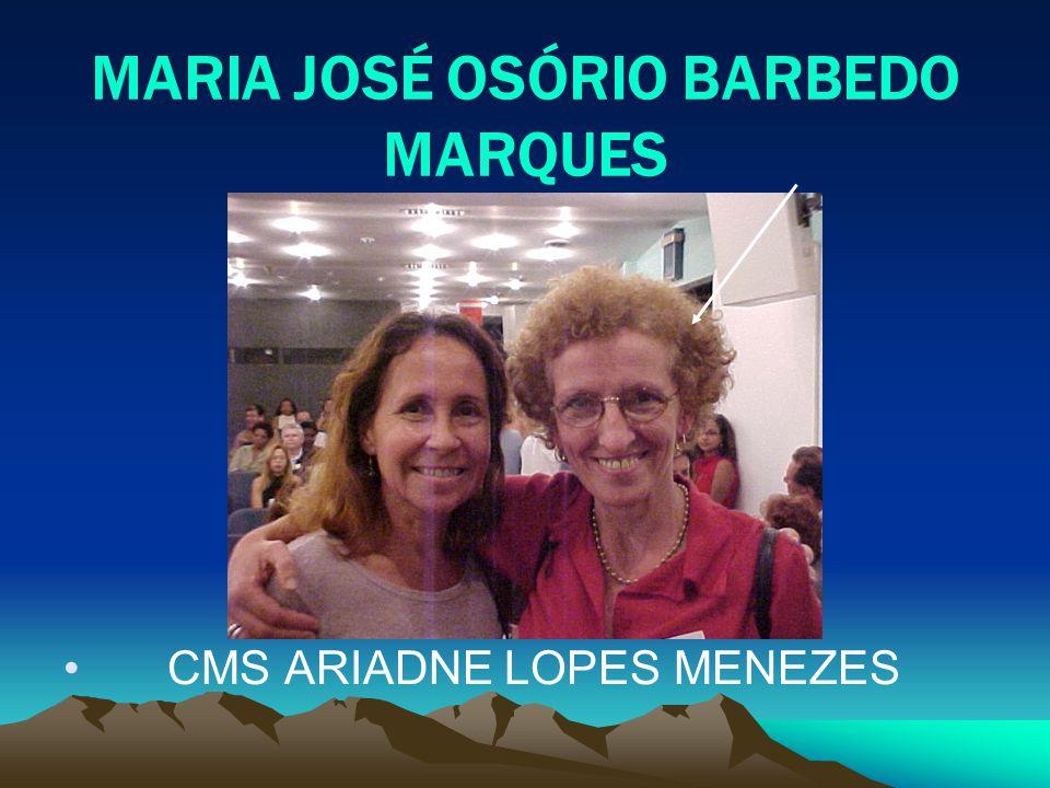 MARIA JOSÉ OSÓRIO BARBEDO MARQUES