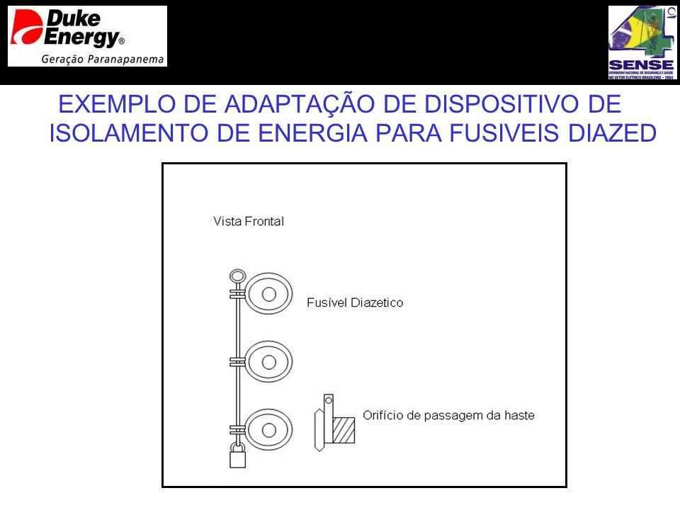 EXEMPLO DE ADAPTAÇÃO DE DISPOSITIVO DE ISOLAMENTO DE ENERGIA PARA FUSIVEIS DIAZED