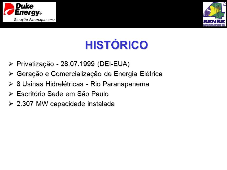 HISTÓRICO Privatização - 28.07.1999 (DEI-EUA)