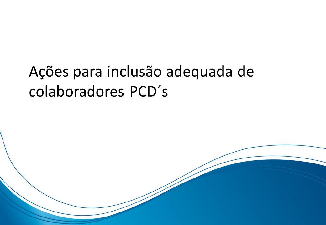 Ações para inclusão adequada de colaboradores PCD´s