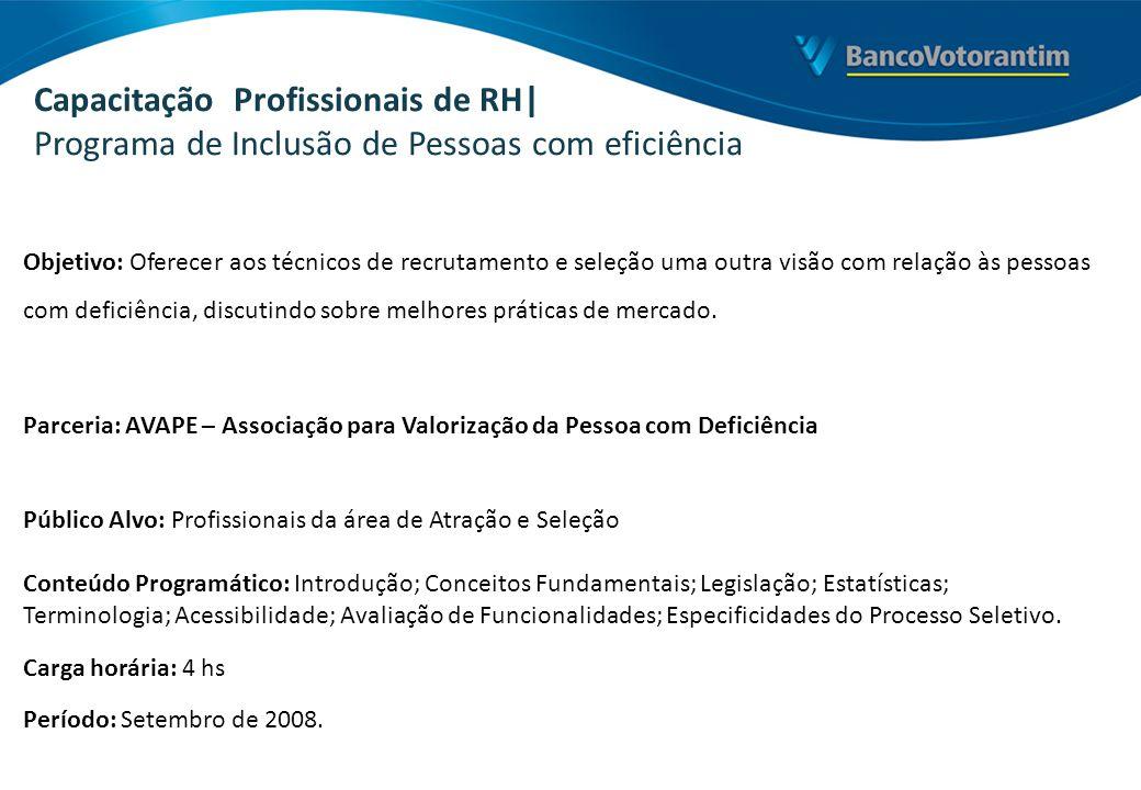Capacitação Profissionais de RH| Programa de Inclusão de Pessoas com eficiência