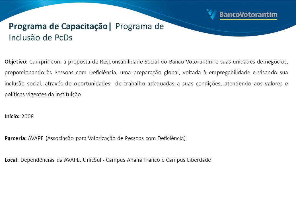 Programa de Capacitação| Programa de Inclusão de PcDs