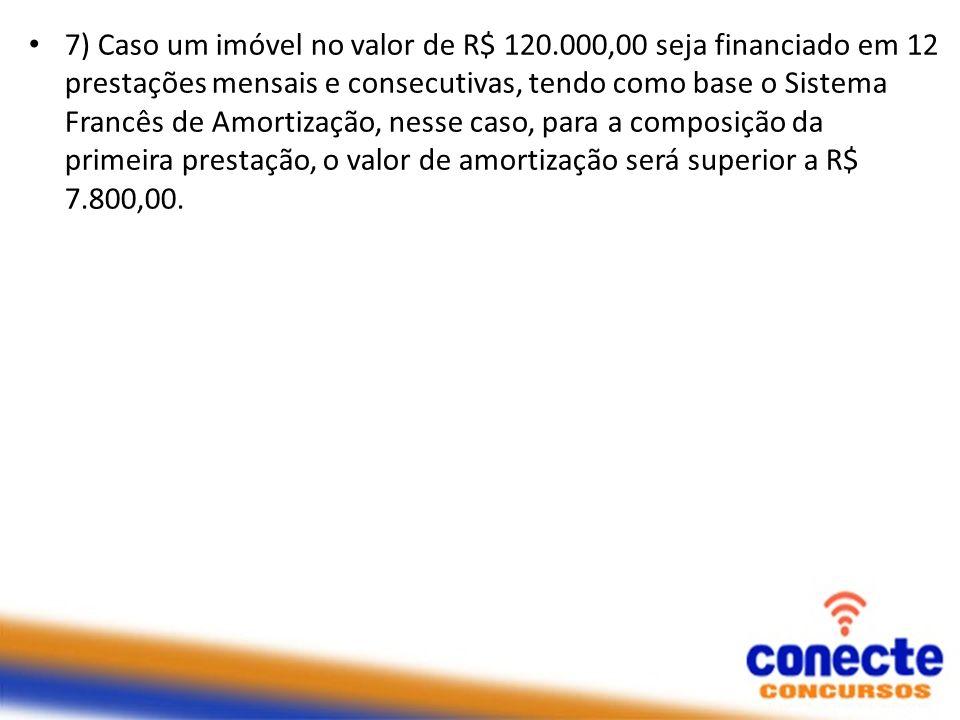 7) Caso um imóvel no valor de R$ 120