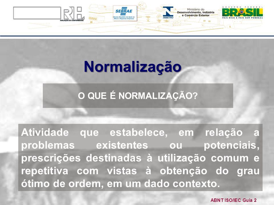 Normalização O QUE É NORMALIZAÇÃO