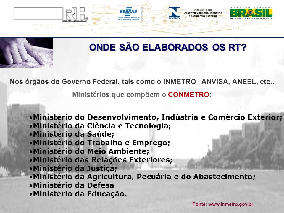 ONDE SÃO ELABORADOS OS RT